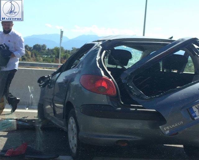 Τροχαίο ατύχημα στην Ιόνια Οδό στην έξοδο Κομποτίου