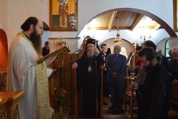 Χοροστατούντος του Μητροπολίτη η Θεία Λειτουργία στο Ιερό Ησυχαστήριο Αγίων Κυπριανού και Ιουστίνης στο Παναιτώλιο