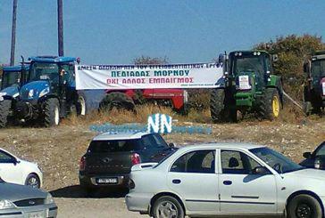 """Με τρακτέρ υποδέχτηκαν στη """"Nostos"""" τον υπουργό Αγροτικής Ανάπτυξης οι αγρότες της Φωκίδας (video)"""