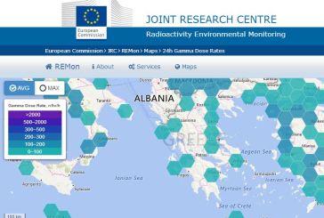 Μην ανησυχείτε στην Αιτωλοακαρνανία για ραδιενέργεια. Δεν υπάρχουμε στον χάρτη!