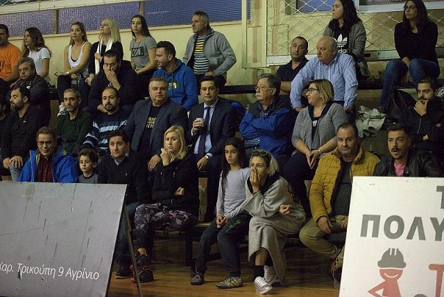 Στις κερκίδες οι δήμαρχοι Αγρινίου Γ.Παπαναστασίου και Μεσολογγίου Ν.Καραπάνος
