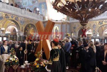 Πάτρα: Κοσμοσυρροή για να προσκυνήσουν τον Απόστολο Ανδρέα (video)