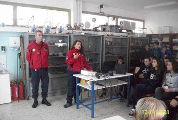 Η ΕΟΕΔ Μεσολογγίου ενημέρωσε τους μαθητές του Γυμνασίου Νεοχωρίου για τους σεισμούς