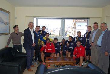 Επίσκεψη Σουηδών ποδοσφαιριστών στο Δήμο Μεσολογγίου