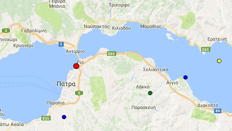 Σεισμός 3,4R στο θαλάσσιο χώρο Ρίου – Αντιρρίου