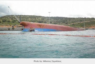 Εντυπωσιακό βίντεο από την  ανέλκυση πλοίου που βυθίστηκε στο Πλατυγιάλι