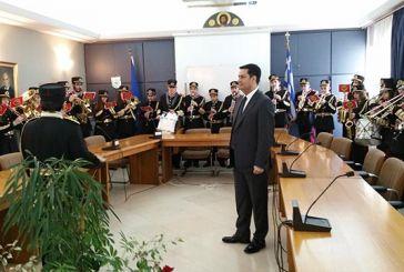 Τα κάλαντα της Πρωτοχρονιάς στον Δήμαρχο Αγρινίου από τη Φιλαρμονική