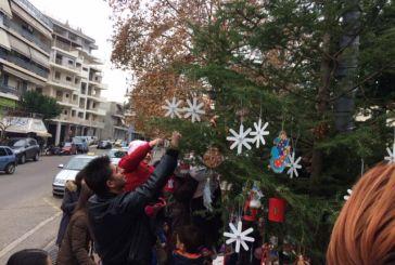 Συνεχίζονται οι στολισμοί δένδρων στο Αγρίνιο από μαθητές