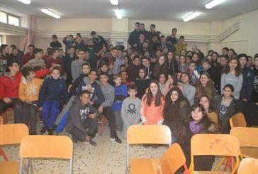 Επίσκεψη του ΑΟ Αγρινίου στο 2ο Γυμνάσιο (video)