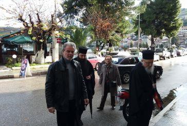 Ο Μητροπολίτης στον δήμαρχο Αμφιλοχίας για την επίσκεψη του Αρχιεπισκόπου