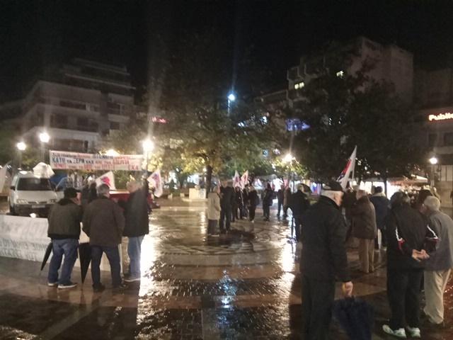 Συλλαλητήριο του Εργατικού Κέντρου στο Αγρίνιο για τις στρατιωτικές βάσεις