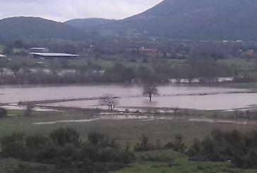 Πλημμύρισαν τα χωράφια στον Αετό Ξηρομέρου