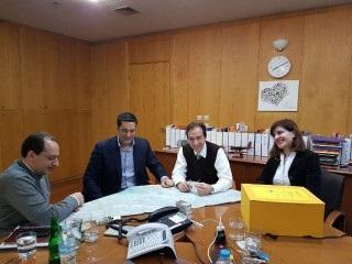 Τη μελέτη σύνδεσης του Αγρινίου με την Ιόνια Οδό παρουσίασε σε Σπίρτζη ο Δήμαρχος
