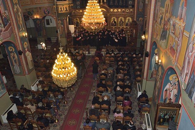 Πλήθος κόσμου στον Ι.Ν. Αγίου Χριστοφόρου Αγρινίου για την εκδήλωση στη μνήμη του Λουκά Σκιαδά