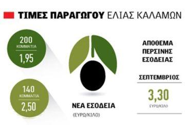 Οι δημοπρασίες έφεραν την ελιά Καλαμών στα 2,5 ευρώ