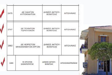 Τέσσερις μόνιμες θέσεις εργασίας στο Δήμο Ακτίου Βόνιτσας