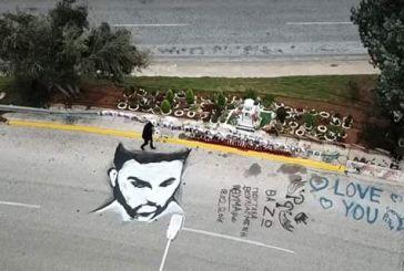 Εκαναν ασπρόμαυρο γκράφιτι του Παντελή Παντελίδη στο σημείο του δυστυχήματος