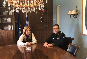 Η αντιπεριφερειάρχης συναντήθηκε με τον νέο διοικητή της Πυροσβεστικής Υπηρεσίας Αιτωλοακαρνανίας