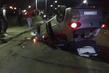 Τούμπαρε αυτοκίνητο στο ύψος του κόμβου στα Διαμαντέικα – «Άγιο» είχαν οδηγός και συνοδηγός