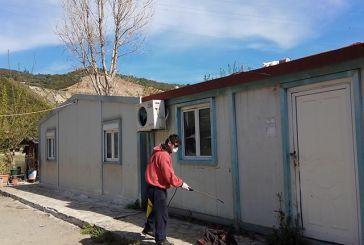 Απεντόμωση στον οικισμό λυόμενων Ρομά στο Σκα Ναυπάκτου