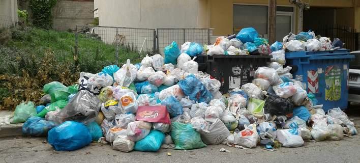 Πνιγμένο στα σκουπίδια το Αίγιο /Φωτογραφία: aigialeianews.gr