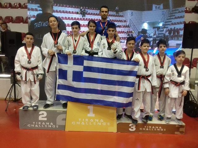 """Διακρίσεις για αθλητές του Τίτορμου Αιτωλοακαρνανίας στο """"2nd Tirana Tae Kwon Do Challenge"""""""