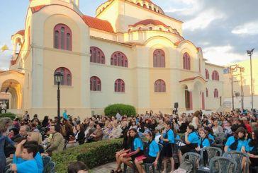 Πλήθος κόσμου στην εκδήλωση στον Ι.Ν. Αγίου Δημητρίου Αγρινίου με αφιέρωμα στον σμηναγό Μπαλταδώρο (video)