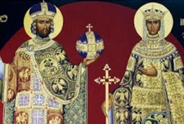 Ο εορτασμός των Αγίων Κωνσταντίνου και Ελένης σε εκκλησίες της Μακρυνείας