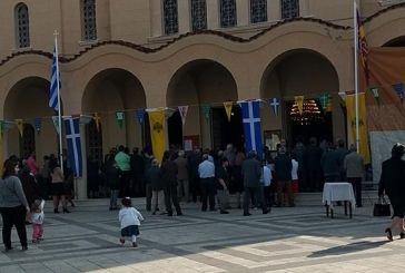 Με κατάνυξη το Αγρίνιο γιορτάζει τον Πολιούχο του (φωτο)