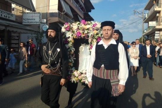 O Άγιος Κωνσταντίνος Αγρινίου εορτάζει με  λαμπρότητα τη μνήμη των Ισαποστόλων Κωνσταντίνου & Ελένης
