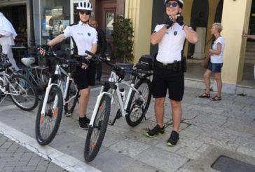 Οι πρώτοι αστυνομικοί με ποδήλατα στην κεντρική αγορά της Λευκάδας