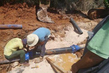 Αποκαταστάθηκε η βλάβη του κεντρικού αγωγού ύδρευσης της Παλαίρου
