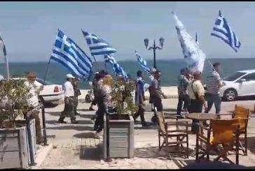 Πορεία οπαδών του Αρτέμη Σώρρα στη Βόνιτσα (video)