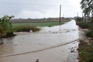 Προβλήματα απο την κακοκαιρία στο αγροτικό οδικό δίκτυο του δήμου Μεσολογγίου