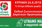 Oι υποψήφιοι για τις Τοπικές Συντονιστικές Γραμματείες του Kινήματος Αλλαγής στην Αιτωλοακαρνανία