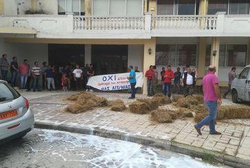 Διαμαρτυρία κτηνοτρόφων στην Περιφερειακή Ενότητα Αιτωλοακαρνανίας (φωτο)