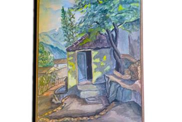 Ένας σπάνιος πίνακας ζωγραφικής ενός Ιταλού στρατιώτη στα χρόνια της Κατοχής στην Κατούνα