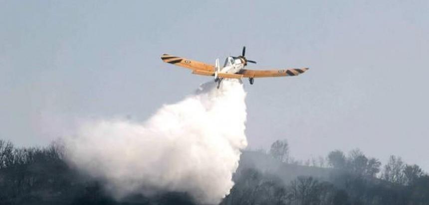 Μεγάλη κινητοποίηση για φωτιά κοντά στην Παλαιομάνινα