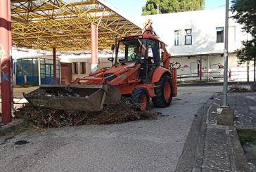 Καθαρισμός στον αύλειο χώρο του παλιού Νοσοκομείου Αγρινίου