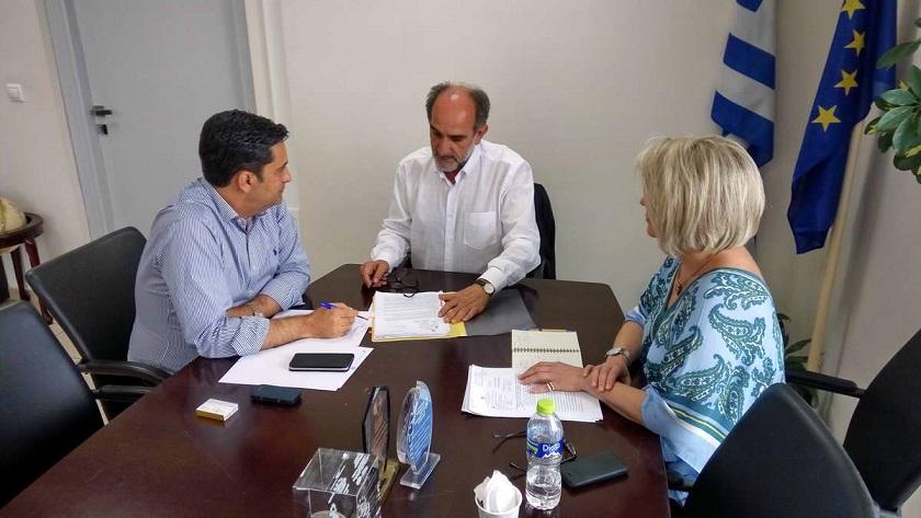 2018.07.30 @ Συνάντηση του Περιφερειάρχη Δυτικής Ελλάδας, Απόστολου Κατσιφάρα, με το Δήμαρχο Αγρινίου, Γιώργο Παπαναστασίου.