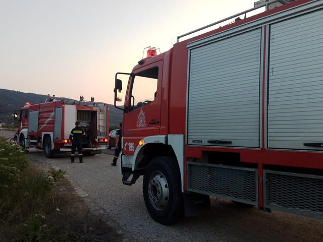 Φωτιά κοντά στον καταυλισμό των Ρομά στο Αιτωλικό