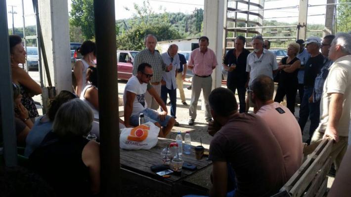Στο πλευρό απεργών εργαζομένων επιχείρησης του Μενιδίου το ΚΚΕ