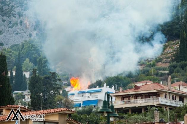 Φωτιά στον Αστακό (φωτο)