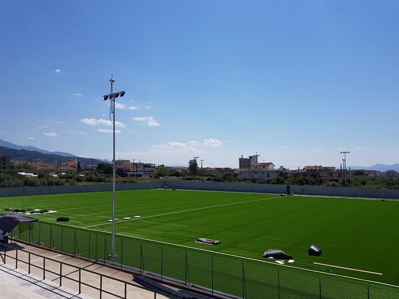 Αγρίνιο: το γήπεδο του Αγίου Κωνσταντίνου με χλοοτάπητα