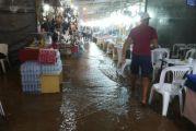 Ποτάμια οι δρόμοι στο Καρπενήσι – Πλημμύρισε το παζάρι (video)