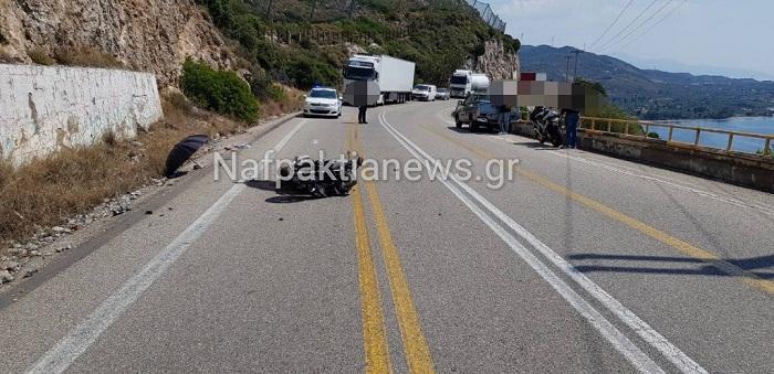 Τροχαίο ατύχημα στην Παλιοβούνα- σε σοβαρή κατάσταση οδηγός μηχανής