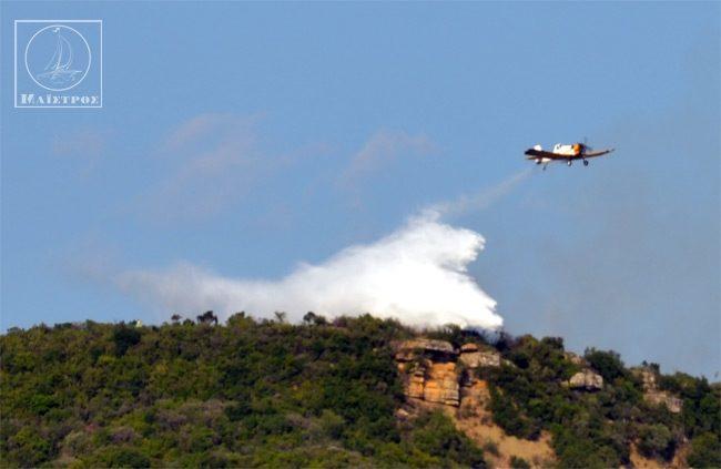 Βίντεο: Οι ρίψεις των Πετζετέλ που έθεσαν υπό έλεγχο τη φωτιά στο Αμπελάκι