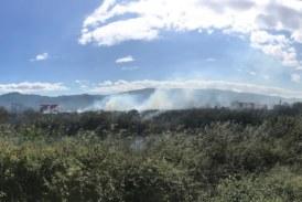 Φωτιά στον κάμπο νότια του Παναιτωλίου (φωτο)