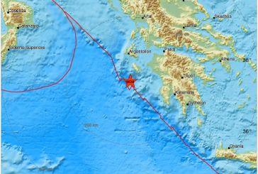 Tρόμος και στην Αιτωλοακαρνανία από  μεγάλο σεισμό στο Ιόνιο