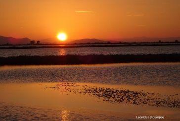 Το «μαγευτικό» μεσολογγίτικο ηλιοβασίλεμα (φωτο)